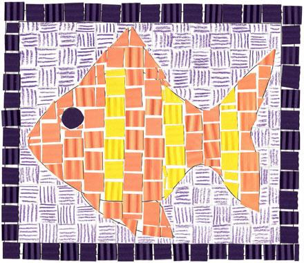 Precioso mosaico de papel 1