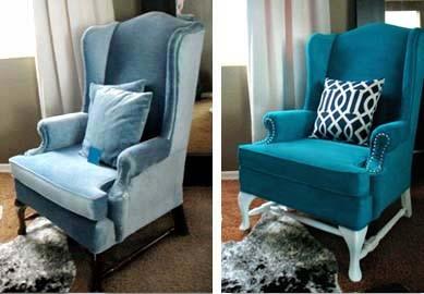 C mo cambiar el color de tapizado con pintura gu a de - Decorar muebles con tela ...