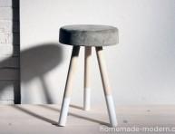 imagen Cómo hacer un taburete de cemento