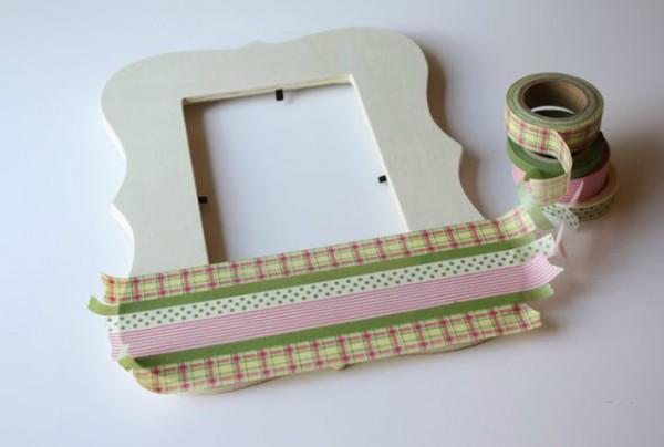 Marco decorado con cinta washi gu a de manualidades - Como decorar un marco de fotos ...