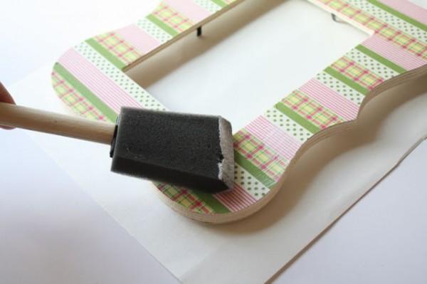 Marco decorado con cinta washi 05