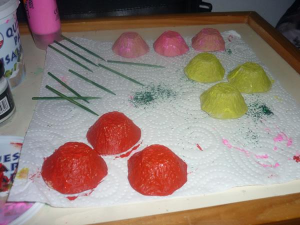 flores con cartón de huevos 4