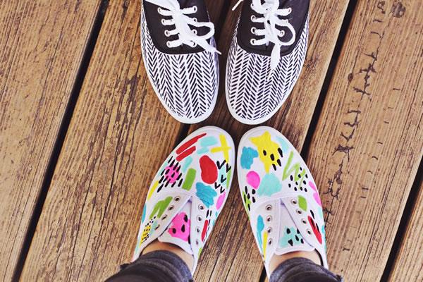 Zapatillas decoradas 1