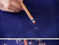 imagen Decorando telas con lejía
