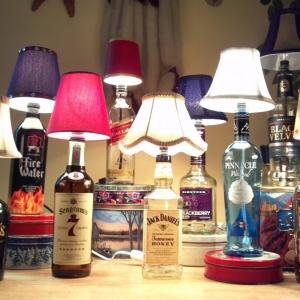 Lámparas con botellas 1