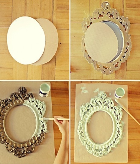 Espejos transformado en pizarra gu a de manualidades for Como hacer un espejo con marco de madera