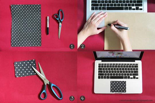 Trackpad de notebook decorado 2