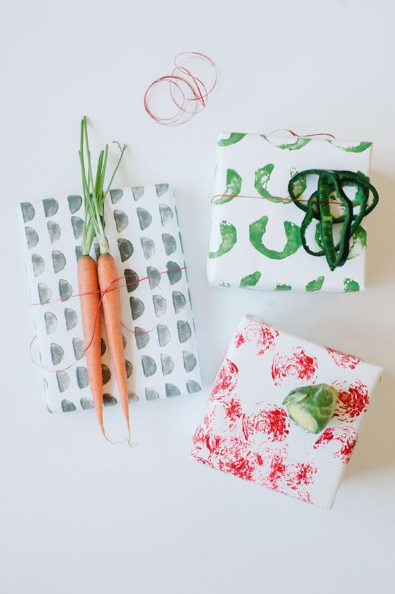 Papel estampado con hortalizas 1