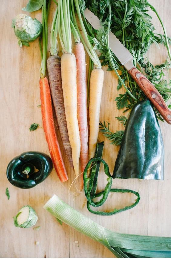 Papel estampado con hortalizas 2