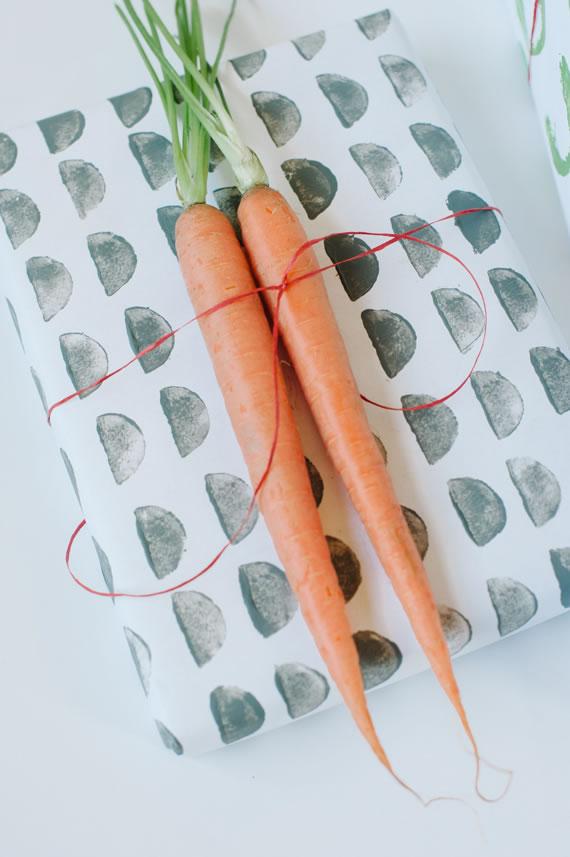 Papel estampado con hortalizas 5