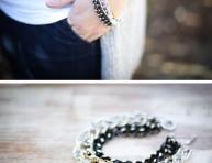 imagen Una pulsera con cadenas a la moda