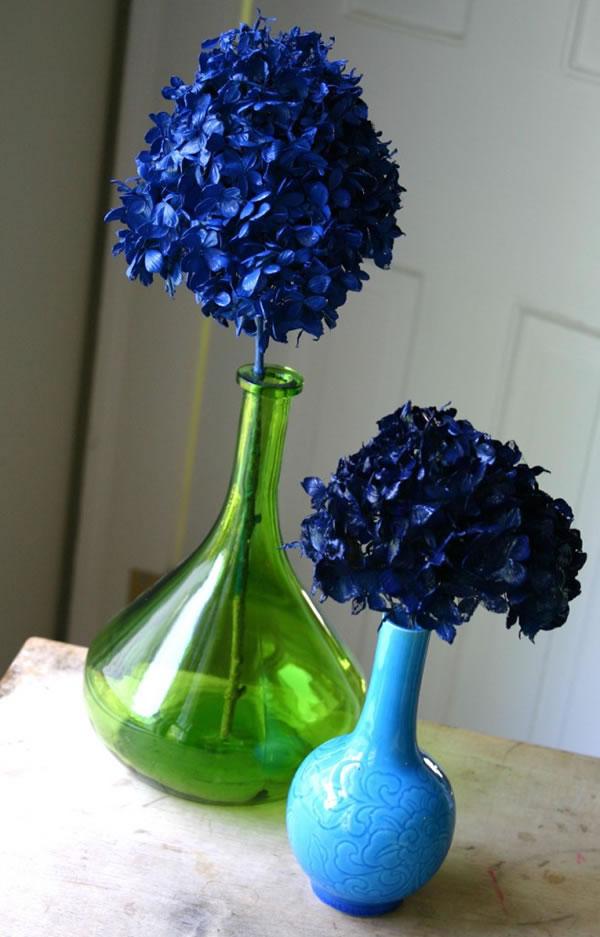 Hortensias naturales pintadas 1