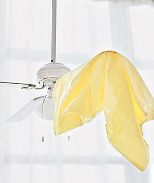 Cómo limpiar el ventilador de techo 01