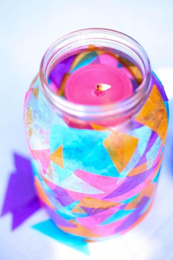 Linternas de jardín con frascos 1