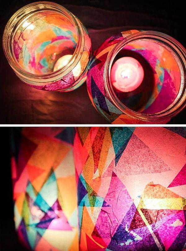 Linternas de jardín con frascos 4