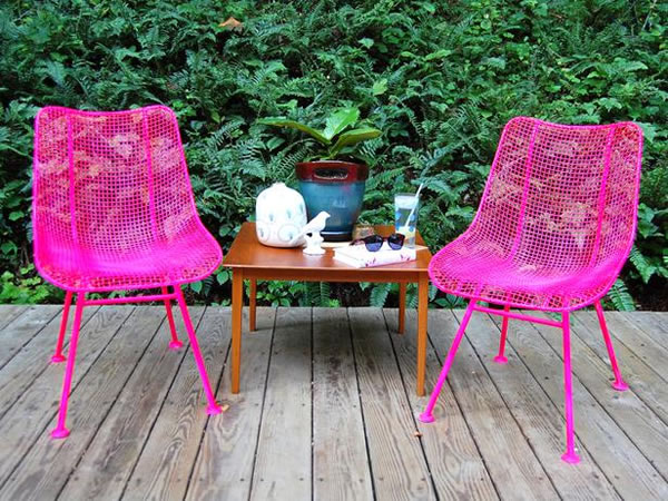 Sillas de jardín recicladas 1
