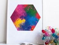 imagen Cuadro con pigmentos de colores