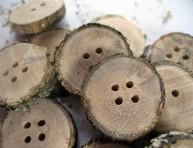 imagen Botones de madera auténtica