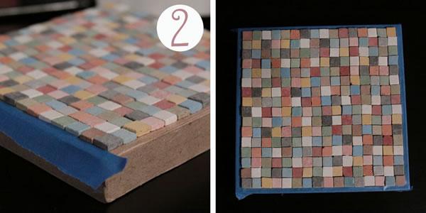 Cajas organizadoras con mosaicos 3