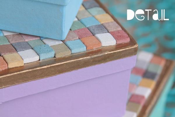 Cajas organizadoras con mosaicos 5