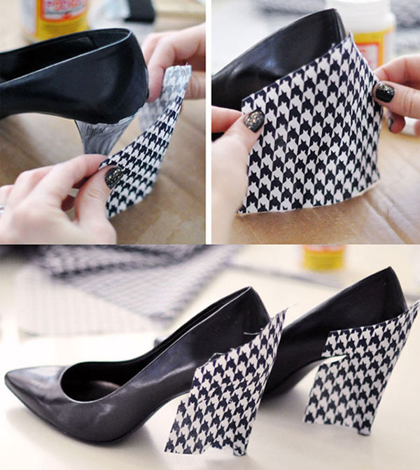 Como forrar zapatos de fiesta gu a de manualidades - Como forrar muebles con tela paso a paso ...