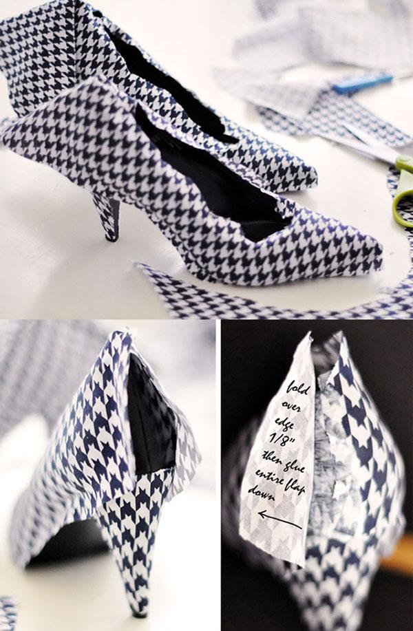 Tacones y zapatos forrados 8