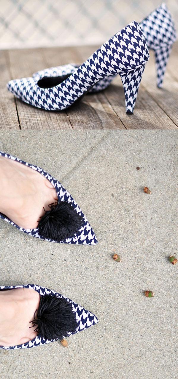 Tacones y zapatos forrados 10