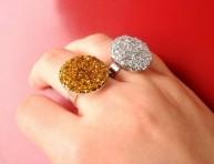 imagen Fáciles y llamativos anillos con glitter