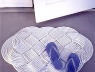 imagen Un original felpudo de cuerda trenzada
