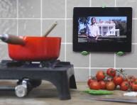 imagen Construir un soporte para la tablet en la cocina