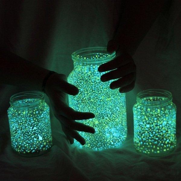 Frasco que brilla en la oscuridad - Guía de MANUALIDADES