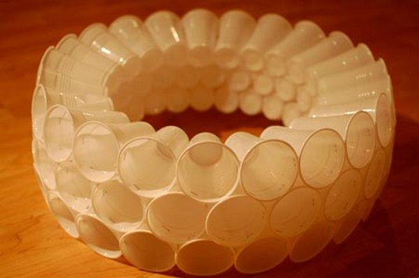 Lámpara con vasos 5