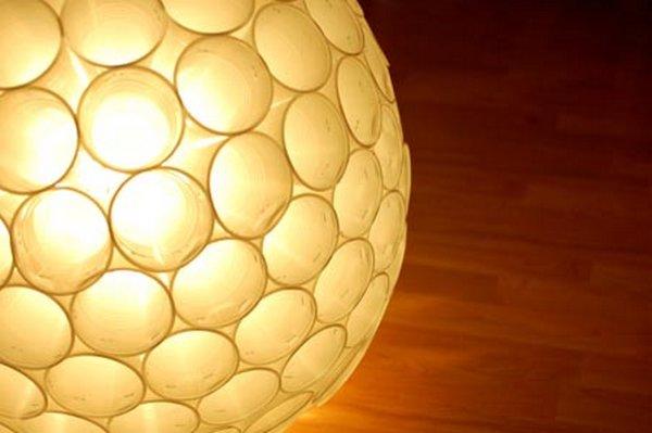 Lámpara con vasos 6