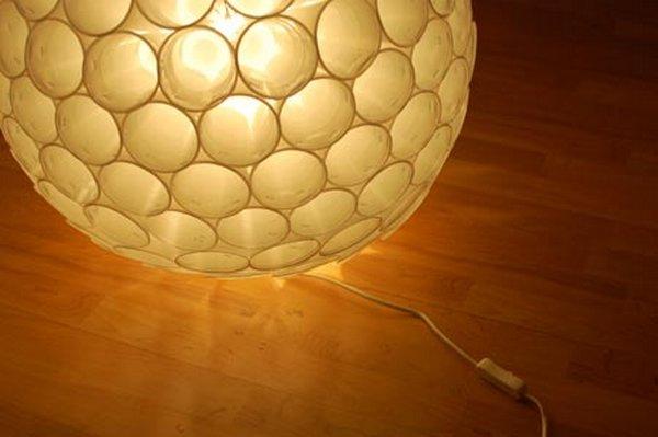 Lámpara con vasos 7