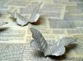 imagen Mariposas de papel antiguo
