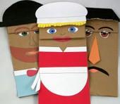 imagen Títeres con bolsas de papel