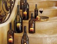 imagen Centro de mesa con botellas de vino