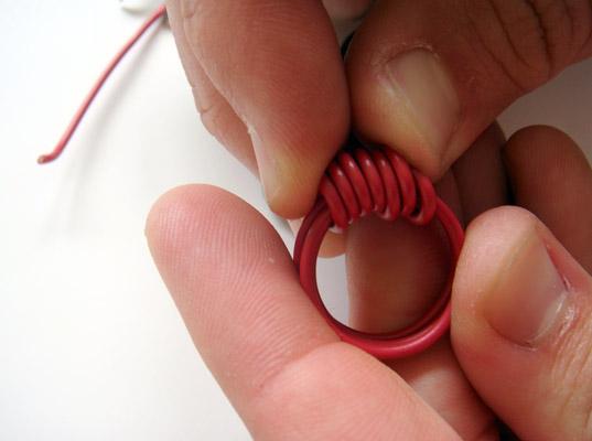 Anillos con cable eléctrico 11