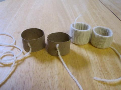 Servilleteros con rollos de papel 1