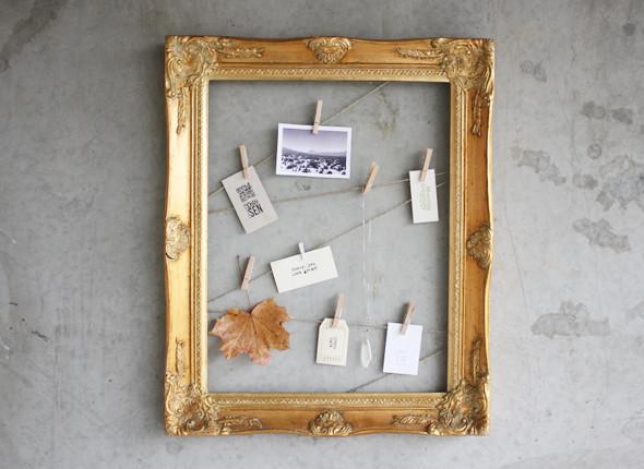 Marco reciclado para fotos gu a de manualidades - Marcos de fotos para colgar ...