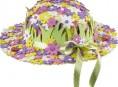 imagen Sombrero con flores de goma eva