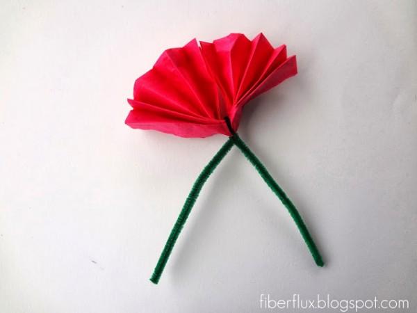 Flores con papel de seda 6