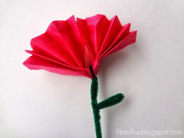 Flores con papel de seda 7