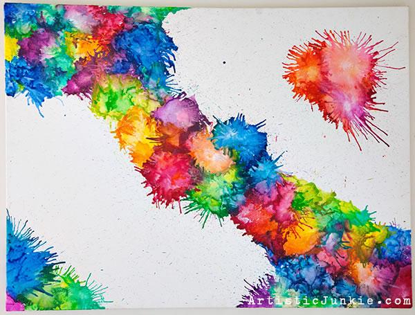 Pintar con crayones 1