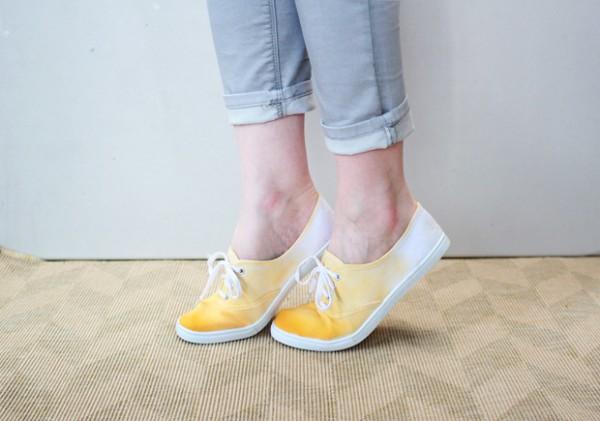 Zapatillas teñidas en degradé 1