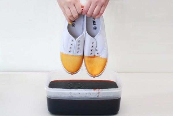 Zapatillas teñidas en degradé 4