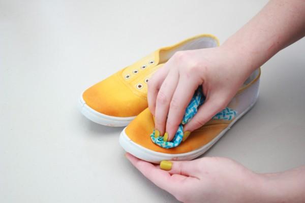 Zapatillas teñidas en degradé 5