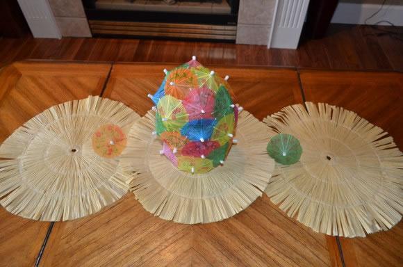 Centro de mesa con sombrillas 4