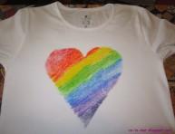 imagen Cómo personalizar camisetas con crayones