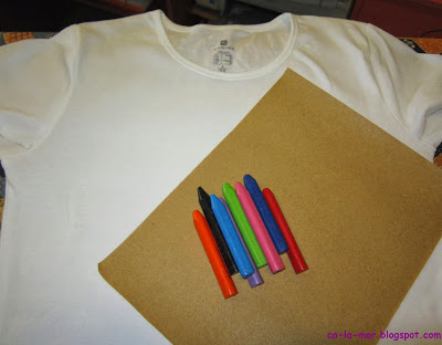 Camisetas personalizadas con crayones 2
